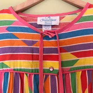 Colorful Vintage Sear Sixties Nightgown/Sleepwear